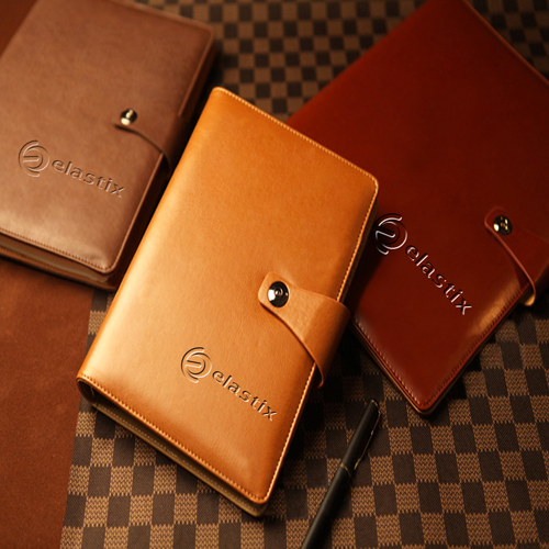 Leather Cover Jotter With 80 Sheet Paper Image 4
