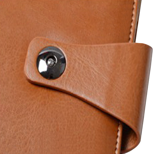Leather Cover Jotter With 80 Sheet Paper Image 5