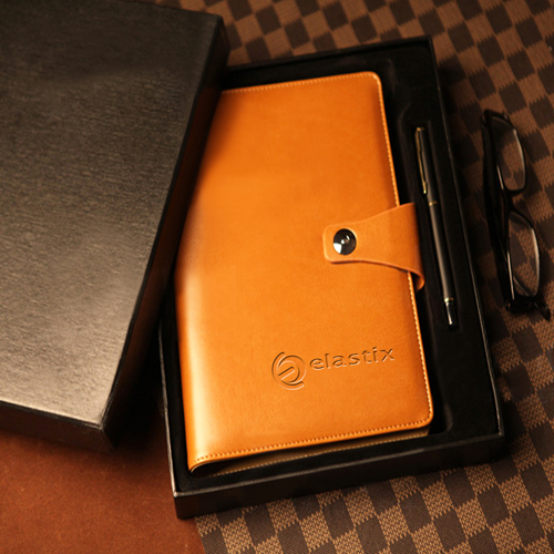 Leather Cover Jotter With 80 Sheet Paper Image 8