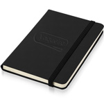Leather Loose-Leaf Jotter With Elastic Closure