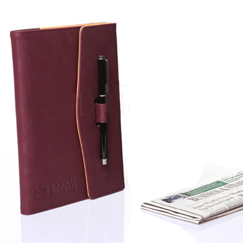 Triple Fold Leather Executive Jotter Image 1