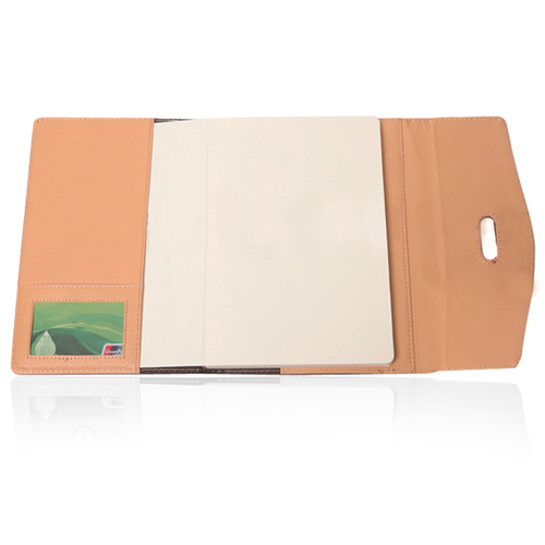 Triple Fold Leather Executive Jotter Image 4