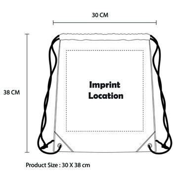 Lipps Canvas Drawstring Backpack