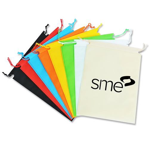 Nonwoven Drawstring Shoe Bag Image 2