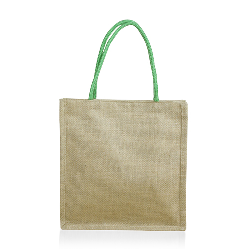 Eco-Friendly Jute Tote With Pocket Image 1