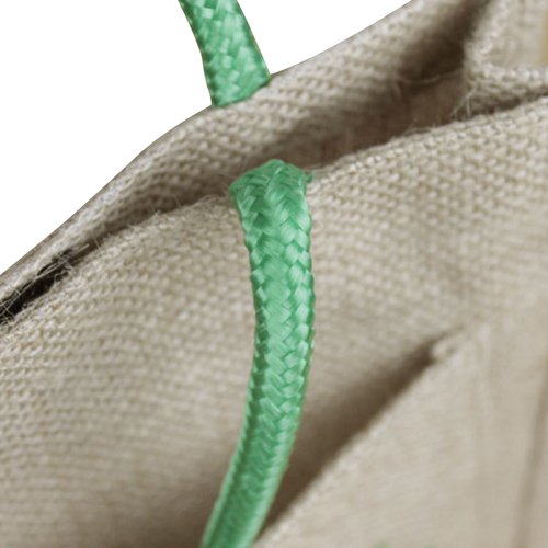 Eco-Friendly Jute Tote With Pocket Image 5