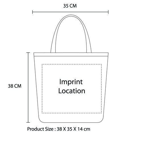 Eco-Friendly Jute Shopping Bag Imprint Image