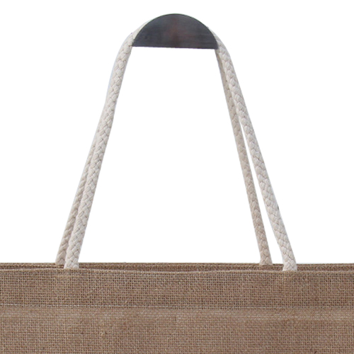 Jute Shopping Bag With Tie-Over Button Image 2