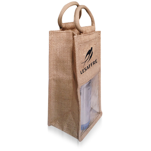 Natural One Bottle Jute Bag Image 1