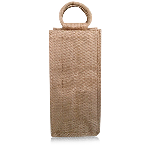 Natural One Bottle Jute Bag Image 3