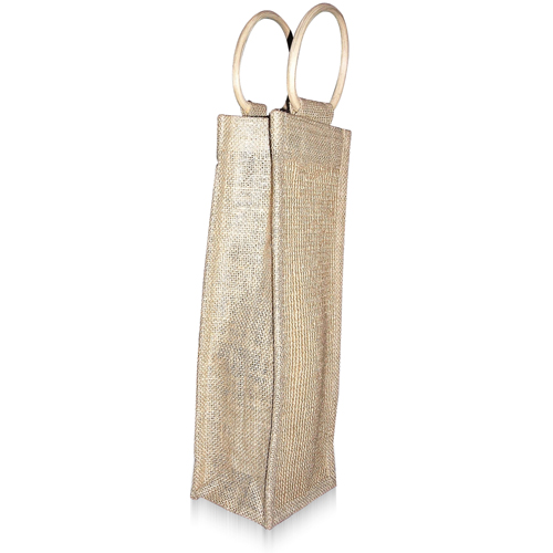 Natural One Bottle Jute Bag Image 4