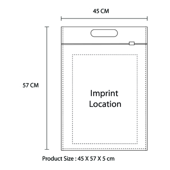 Non-Woven Transparent Garment Bag