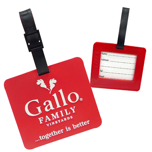 Custom Logo Shape Soft PVC Luggage Tag Image 9