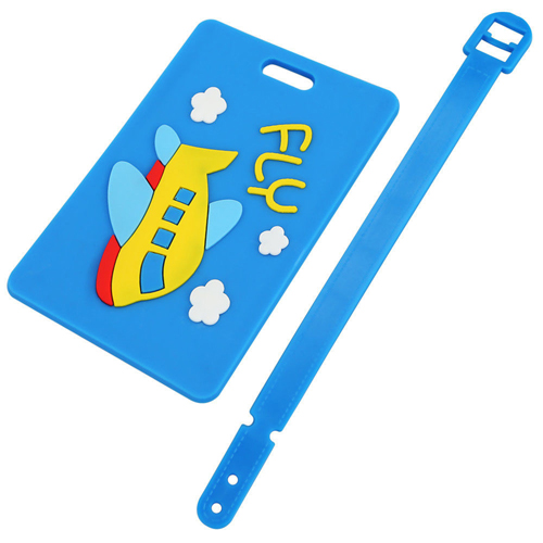Custom Logo Shape Soft PVC Luggage Tag Image 4