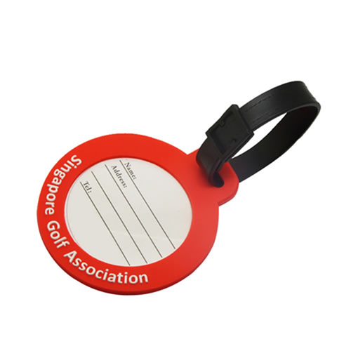 Custom Logo Shape Soft PVC Luggage Tag Image 8