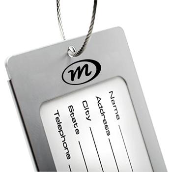 Rectangle Aluminum Alloy Luggage Tag