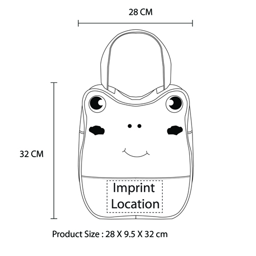 Cartoon Student Lunch Bag