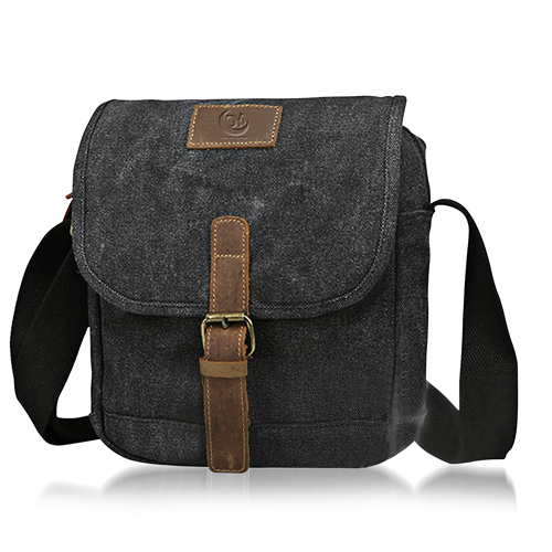 Canvas Satchel Messenger Bag Image 1
