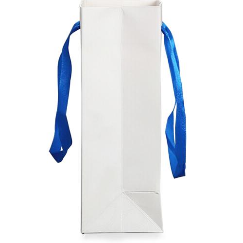 Ivory Ribbon Handle Shopping Bag