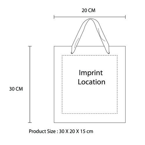 Ribbon Handles Shopping Bag