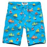 Sailboat Pattern Mens Shorts