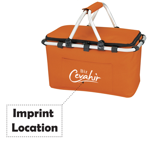 Foldable Insulated Picnic Basket Imprint Image