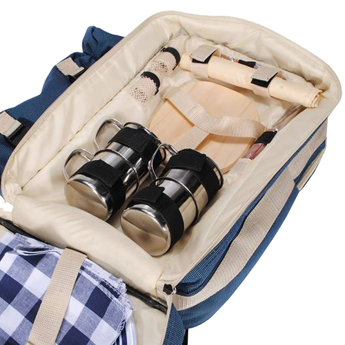 Deluxe Outdoor Picnic Bag For 4