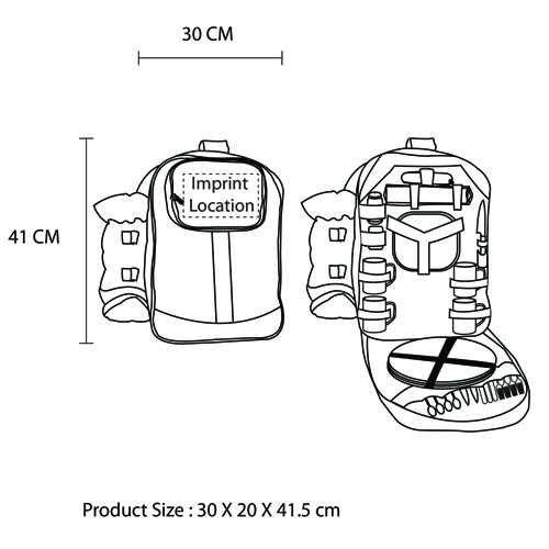 Outdoor Tableware Picnic Backpack