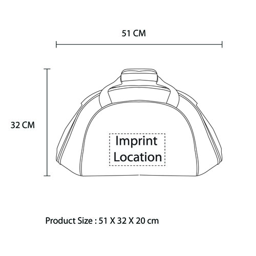 Waterproof Duffel Sports Bag Imprint Image