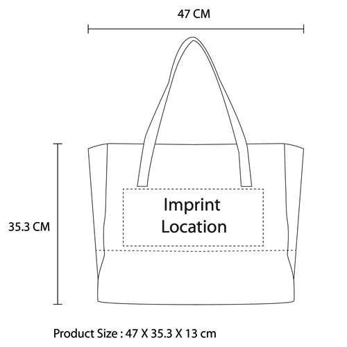 Canvas Meeting Trim Tote Imprint Image