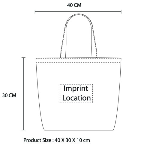 Canvas Grocery Shopping Tote Bag