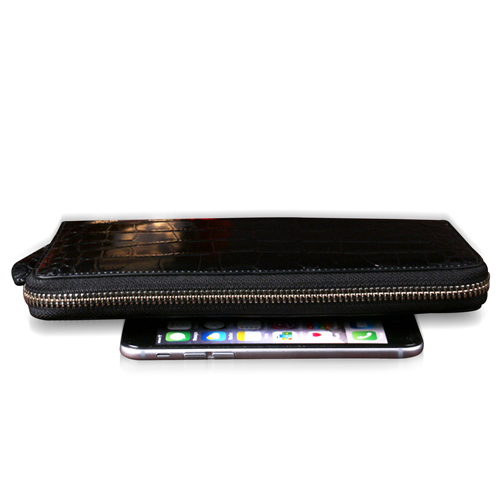 Cowhide Zippered 16 Card slot Wallet