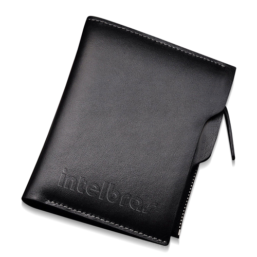 Bi-Fold Leather Zipper Pocket Wallet