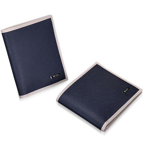 Cowhide Vertical Section Wallet Image 16