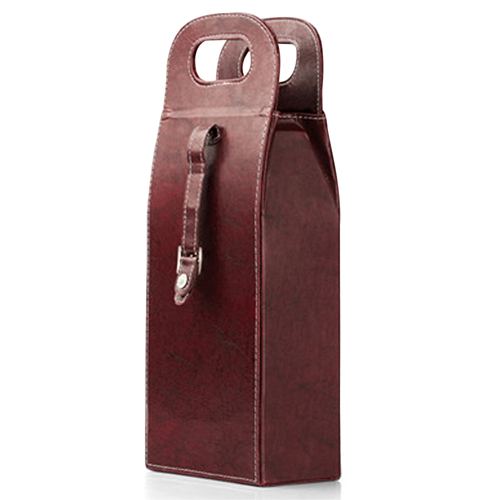 Dual Leather Wine Carrying Tote Image 9