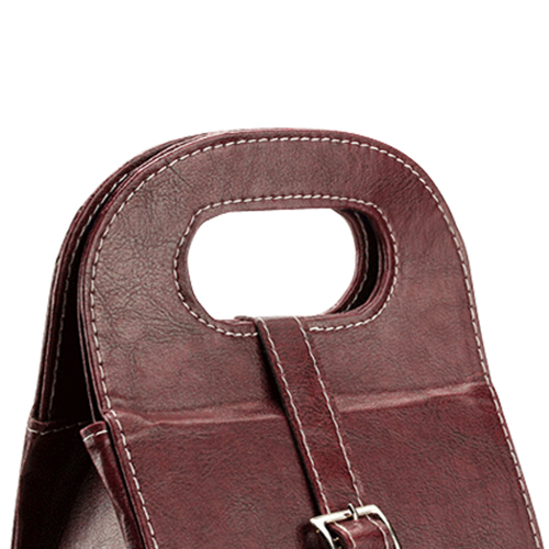 Dual Leather Wine Carrying Tote Image 12