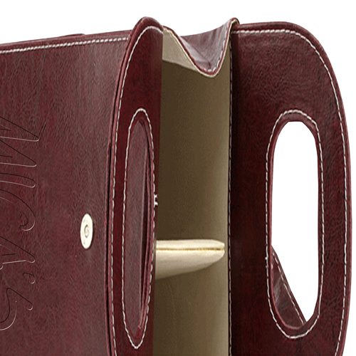 Dual Leather Wine Carrying Tote Image 14