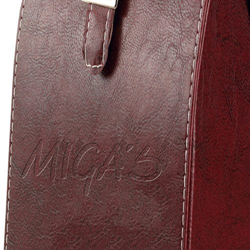 Dual Leather Wine Carrying Tote Image 16
