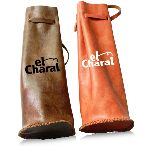 Drawstring Leather Wine Bag