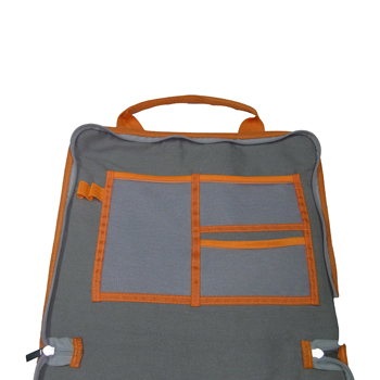 Fully Opened Canvas Briefcase