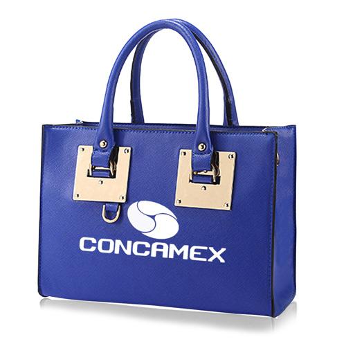 Leather Top Handle Tablet Women Handbag