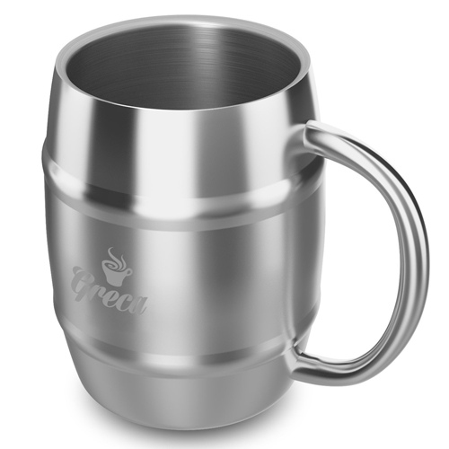 Barrel Shaped Stainless Steel Beer Mug