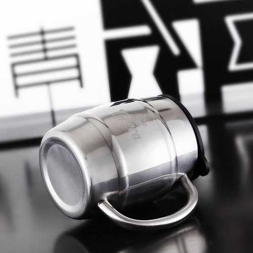 Barrel Shaped Stainless Steel Beer Mug Image 4