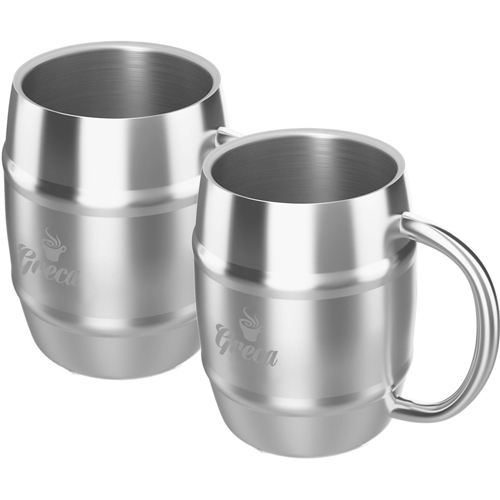 Barrel Shaped Stainless Steel Beer Mug Image 7