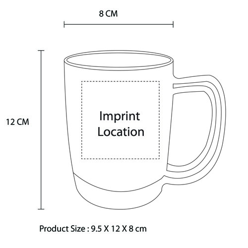 Light-Up Water Inductive Beer Mug Imprint Image