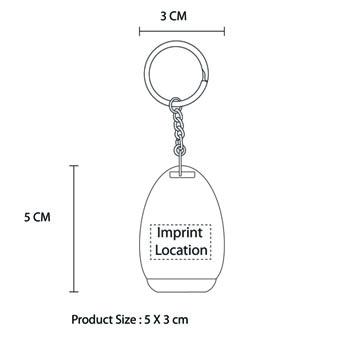 Glossy Chrome Bottle Opener Keychain