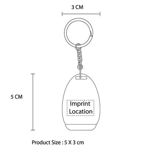 Glossy Chrome Bottle Opener Keychain Imprint Image