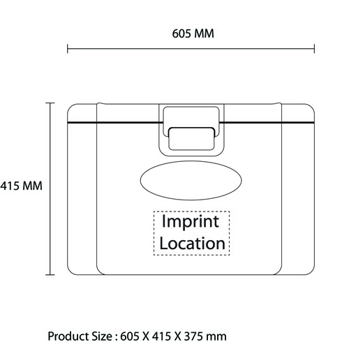 Insulation 50 Liter Cooler Imprint Image
