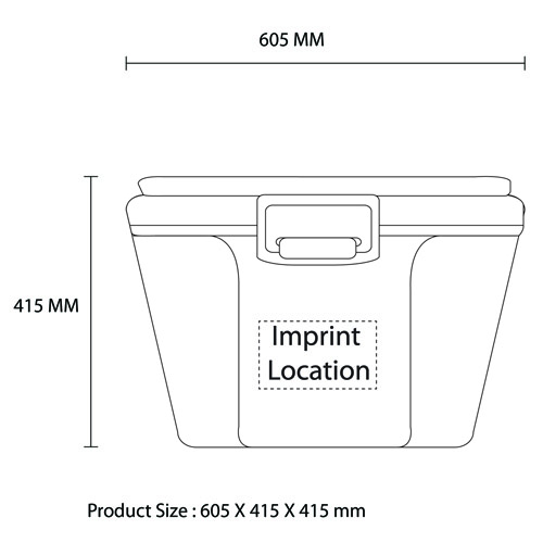 Outdoor Transport 60 Liter Cooler Imprint Image