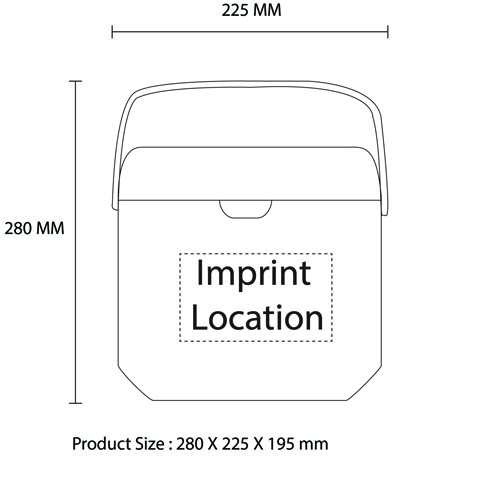 Incubator 12 Liter Cooler Imprint Image